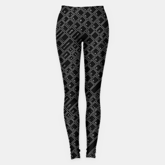 Keyboarded BLACK - The ultimate computer keyboard pattern for boys Leggings thumbnail image
