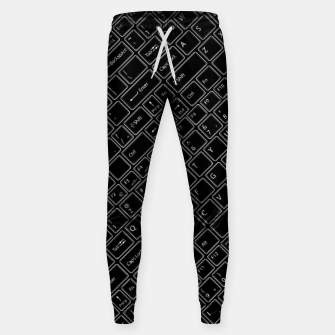 Miniaturka Keyboarded BLACK - The ultimate computer keyboard pattern for boys Sweatpants, Live Heroes