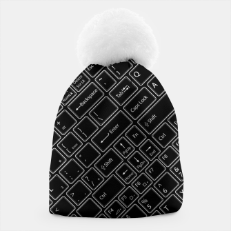 Thumbnail image of Keyboarded BLACK - The ultimate computer keyboard pattern for boys Beanie, Live Heroes
