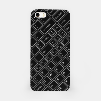 Keyboarded BLACK - The ultimate computer keyboard pattern for boys iPhone Case thumbnail image