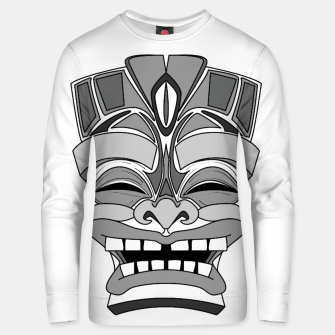 Thumbnail image of Smiling Tiki-Mask Unisex sweater, Live Heroes