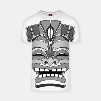 Thumbnail image of Smiling Tiki-Mask T-shirt, Live Heroes