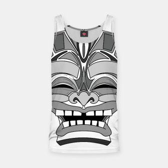 Thumbnail image of Smiling Tiki-Mask Tank Top, Live Heroes