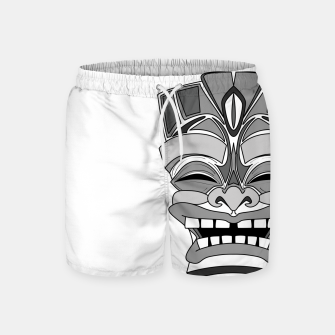 Thumbnail image of Smiling Tiki-Mask Swim Shorts, Live Heroes