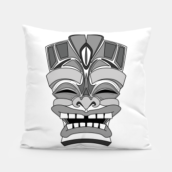 Thumbnail image of Smiling Tiki-Mask Pillow, Live Heroes