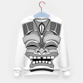 Thumbnail image of Smiling Tiki-Mask Kid's sweater, Live Heroes