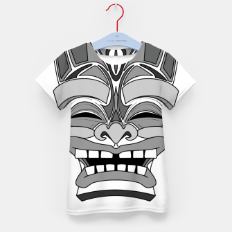 Thumbnail image of Smiling Tiki-Mask Kid's t-shirt, Live Heroes