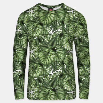Monstera Leaf Jungle Print Unisex sweater obraz miniatury