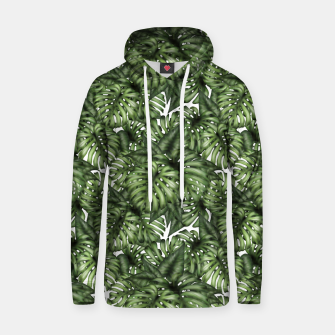 Miniatur Monstera Leaf Jungle Print Hoodie, Live Heroes