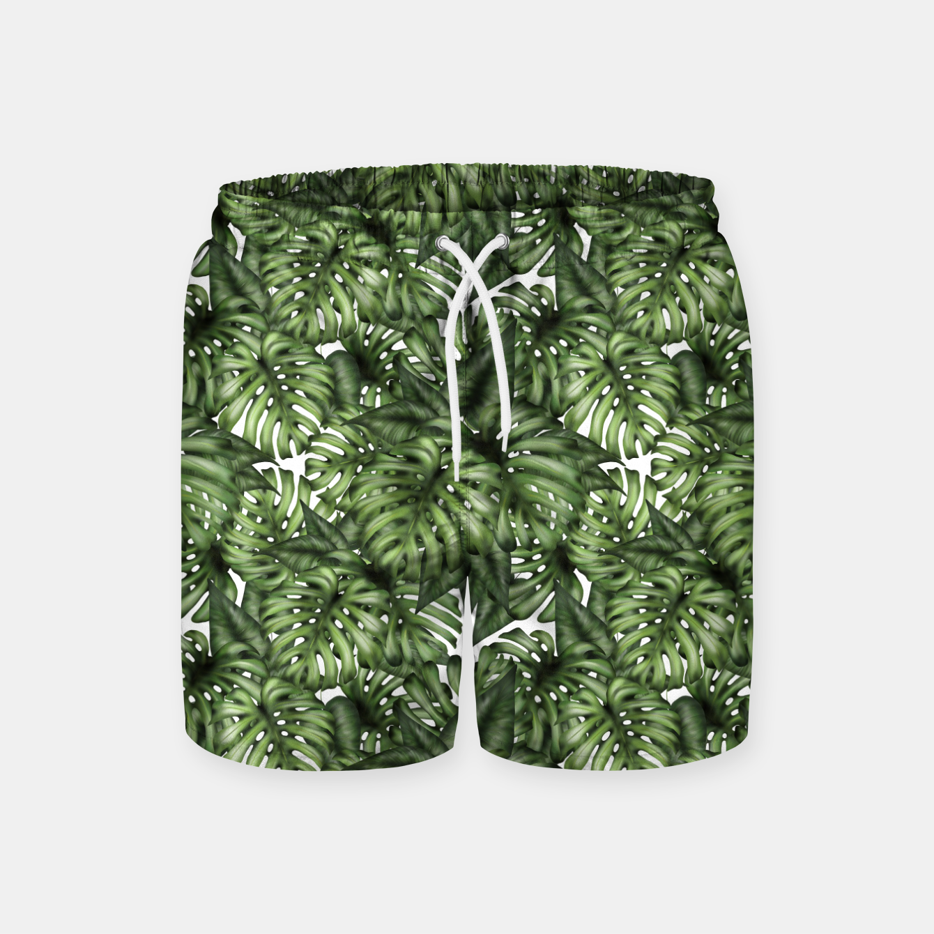 Zdjęcie Monstera Leaf Jungle Print Swim Shorts - Live Heroes
