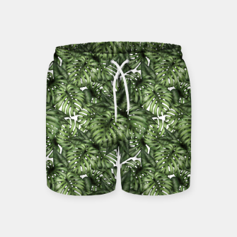 Monstera Leaf Jungle Print Swim Shorts imagen en miniatura