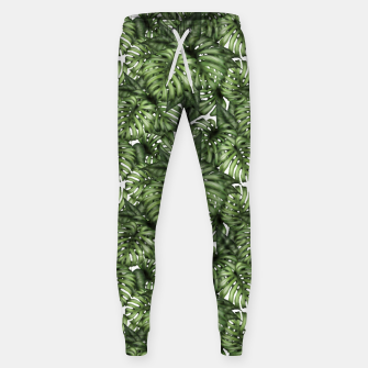 Miniatur Monstera Leaf Jungle Print Sweatpants, Live Heroes