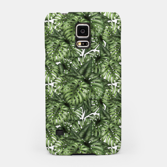 Miniatur Monstera Leaf Jungle Print Samsung Case, Live Heroes