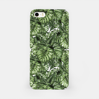 Miniatur Monstera Leaf Jungle Print iPhone Case, Live Heroes