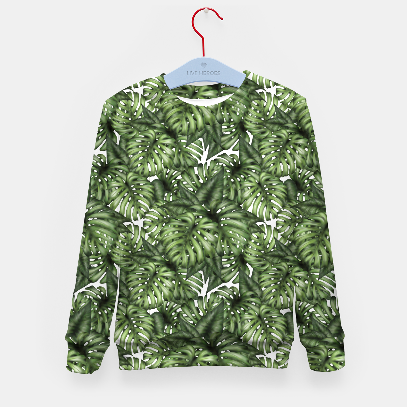 Imagen de Monstera Leaf Jungle Print Kid's sweater - Live Heroes