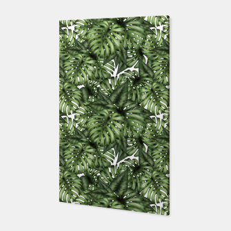 Monstera Leaf Jungle Print Canvas obraz miniatury