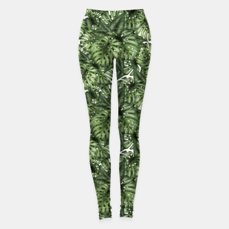 Monstera Leaf Jungle Print Leggings imagen en miniatura