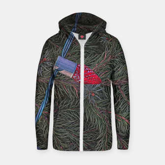 Thumbnail image of Christmas Lights on the Tree Zip up hoodie, Live Heroes