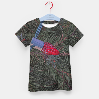 Thumbnail image of Christmas Lights on the Tree Kid's t-shirt, Live Heroes