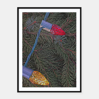 Thumbnail image of Christmas Lights on the Tree Framed poster, Live Heroes