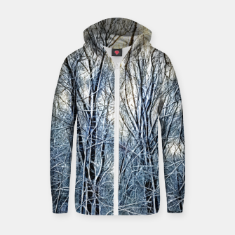 Thumbnail image of 4 oclock Winter landscape Zip up hoodie, Live Heroes