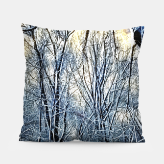 Thumbnail image of 4 oclock Winter landscape Pillow, Live Heroes