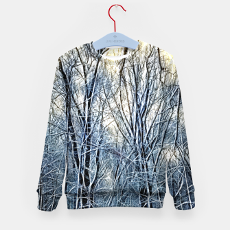 Thumbnail image of 4 oclock Winter landscape Kid's sweater, Live Heroes