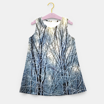 Thumbnail image of 4 oclock Winter landscape Girl's summer dress, Live Heroes