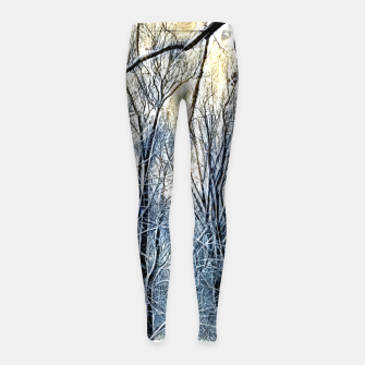 Thumbnail image of 4 oclock Winter landscape Girl's leggings, Live Heroes