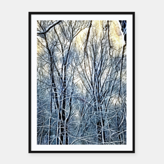 Thumbnail image of 4 oclock Winter landscape Framed poster, Live Heroes