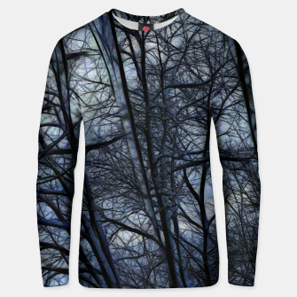 Miniatur Twilight Snowscape With Icicles Unisex sweater, Live Heroes