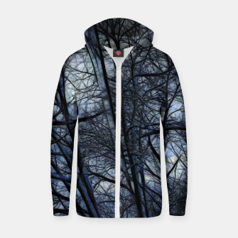Miniatur Twilight Snowscape With Icicles Zip up hoodie, Live Heroes