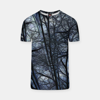 Miniatur Twilight Snowscape With Icicles T-shirt, Live Heroes