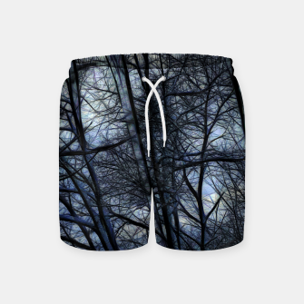 Miniatur Twilight Snowscape With Icicles Swim Shorts, Live Heroes