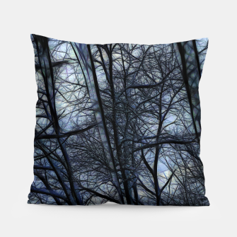 Miniatur Twilight Snowscape With Icicles Pillow, Live Heroes