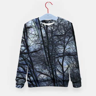 Miniatur Twilight Snowscape With Icicles Kid's sweater, Live Heroes