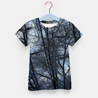 Thumbnail image of Twilight Snowscape With Icicles Kid's t-shirt, Live Heroes