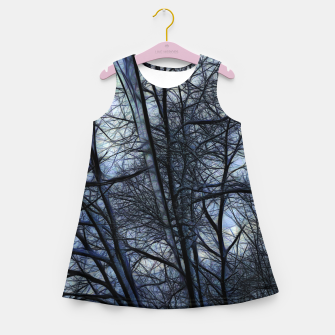 Miniatur Twilight Snowscape With Icicles Girl's summer dress, Live Heroes