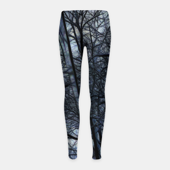Miniatur Twilight Snowscape With Icicles Girl's leggings, Live Heroes