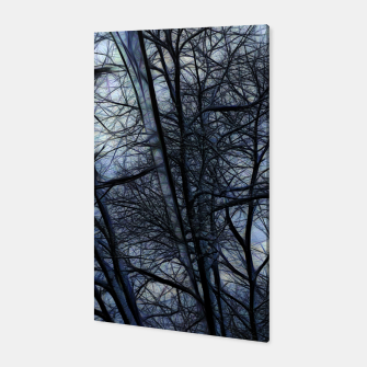 Miniatur Twilight Snowscape With Icicles Canvas, Live Heroes