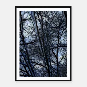 Thumbnail image of Twilight Snowscape With Icicles Framed poster, Live Heroes