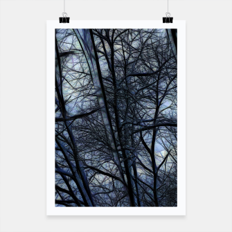 Miniatur Twilight Snowscape With Icicles Poster, Live Heroes