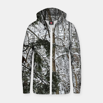 Thumbnail image of Icicles on The tree Zip up hoodie, Live Heroes
