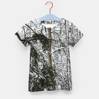 Thumbnail image of Icicles on The tree Kid's t-shirt, Live Heroes