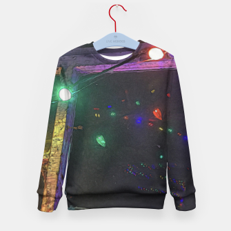 Thumbnail image of Christmas Lights Window Reflection Kid's sweater, Live Heroes