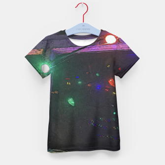 Thumbnail image of Christmas Lights Window Reflection Kid's t-shirt, Live Heroes