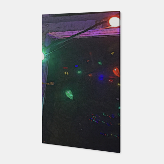 Thumbnail image of Christmas Lights Window Reflection Canvas, Live Heroes