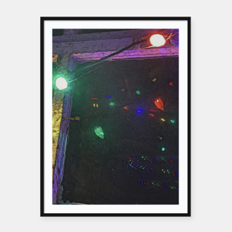 Thumbnail image of Christmas Lights Window Reflection Framed poster, Live Heroes