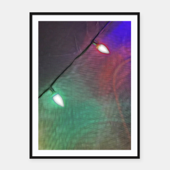 Thumbnail image of Christmas Lights Screen Dance Framed poster, Live Heroes
