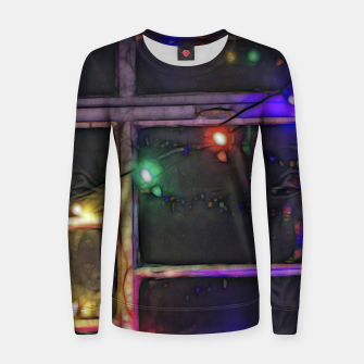 Thumbnail image of Christmas Lights Refraction Women sweater, Live Heroes